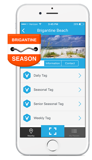 Brigantine Mobile Beach Tag